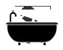 Baignoire icono